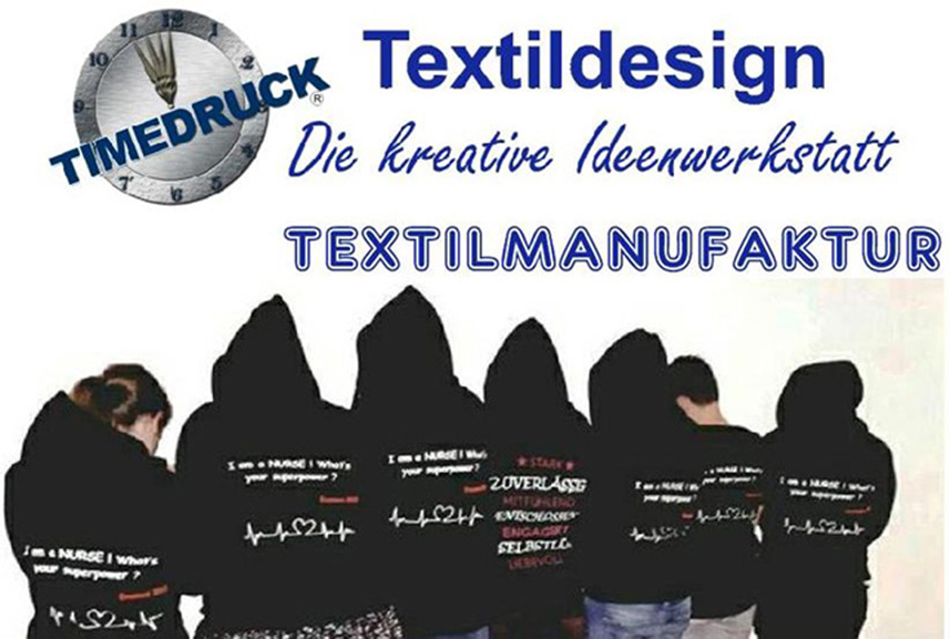 Timedruck Textildesign